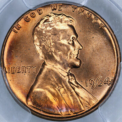 1964 PCGS MS66RD Lincoln Cent