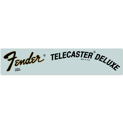 Fender® Telecaster® Deluxe USA Waterslide Headstock Decal GOLD w BLACK FOIL