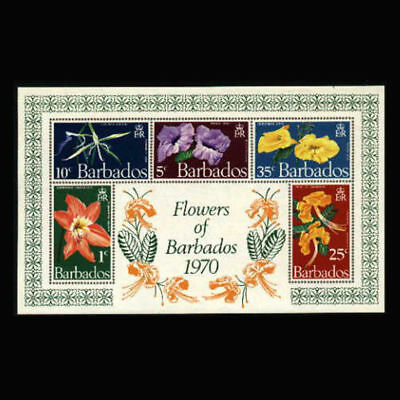 Barbados, Sc #352a, MNH, 1970, S/S, Flowers, Flora, Orchids, 3SDD