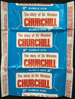 A&BC 1965 Vintage The Story of Sir Winston Churchill 2d Gum Card Wax Wrapper-FCC