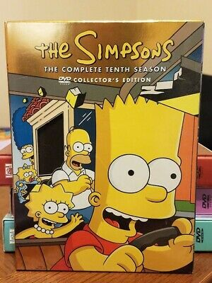 The Simpsons: The Complete 10th Tenth Season 10 3 Discs DVD