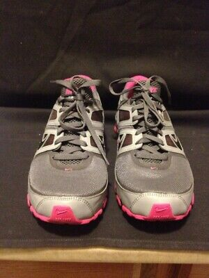 sale retailer ca058 6b893 Rare Nike Shox BRS 1000 Turbo 11 Grey Pink Lace-Up Running Shoes Women