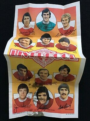 A&BC 1973 Giant Team Posters No. 6 Liverpool Football Club - See Description