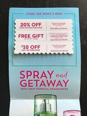 Bath And Body Works 3 Coupons