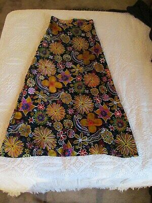 76be0eb338 VINTAGE 40-50S NOVELTY Tourist Mexican Embroidered Full Circle Skirt ...