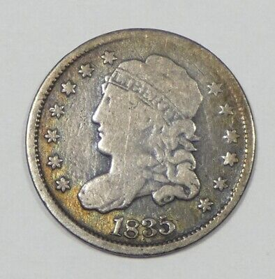 1835 Capped Bust Silver Half Dime GOOD+ 5c