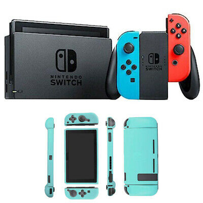 Nintendo Switch 32 GB Console with Neon Blue and Red Joy-Con + Sky Skin Bundle