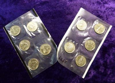 1999 P & D Mint Set of 10 Uncirculated Coins Still Sealed in Cellos, Delaware
