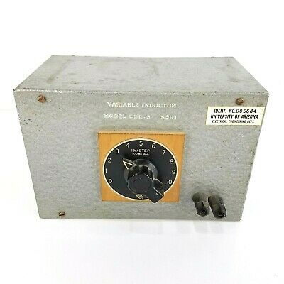 General Radio Variable Inductor Model Cir.3 SERI