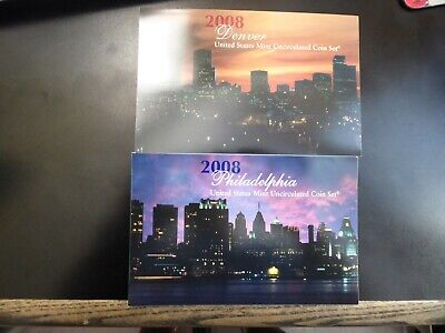 2008 US Mint ANNUAL Uncirculated P and D Coin Set 28 Coins