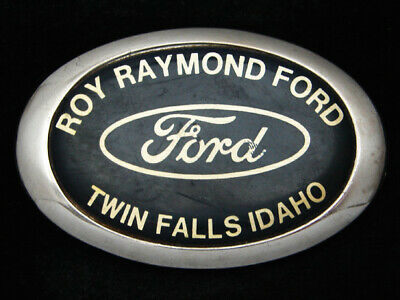 RB11105 VINTAGE 1970s *ROY RAYMOND FORD TWIN FALLS IDAHO* DEALERSHIP BELT BUCKLE