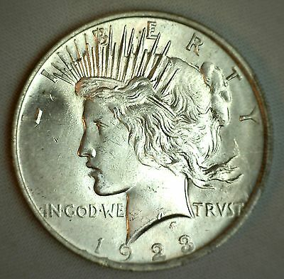 1923 Silver Peace Dollar MS BU $1 Coin Brilliant UNCIRCULATED #JC