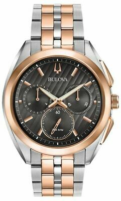 Bulova Two-Tone Stainess Steel Chronograph Mens Watch 98A160