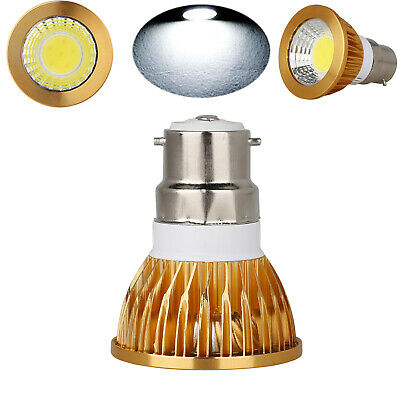 Dimmable LED COB Spotlight Bulb Gold Shell Home Office Indoor Bright B22 9W 220V