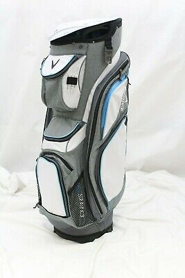 New 2017 Callaway ORG 14 Cart Golf Bag (White-Titanium-Blue) Callaway ORG 14