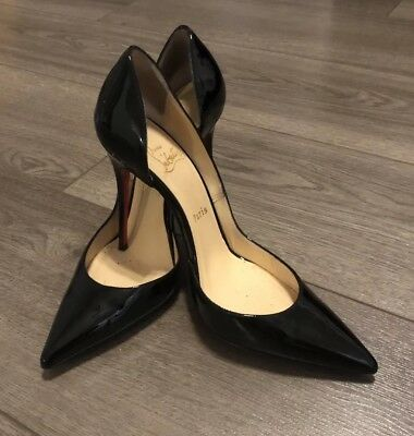 20b8f836044 AUTH PREOWNED  675+TAX Christian Louboutin Iriza 100 Pumps Black ...