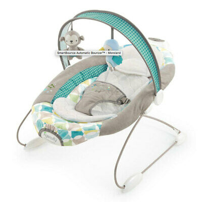 Ingenuity SmartBounce Automatic Baby/Infant Bouncer Chair Seat 0m+ Moreland
