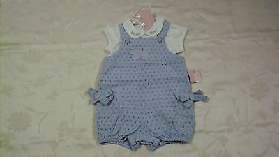 a0a984c96f9 NEW  34 FIRST IMPRESSIONS Girls Blue Cotton Eyelet Romper