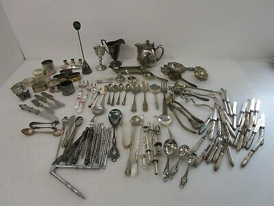 8LB + Lot of Eclectic Silver Plate Items for Entertaining: Many Styles