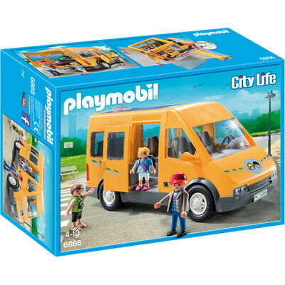 PLAYMOBIL School Van - City Life 6866 DAMAGED B*