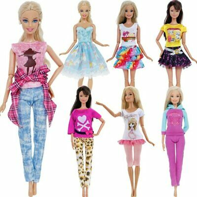 Barbie Clothes Dress Lot Fashion Outfit Set For Girls Doll