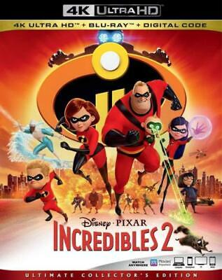 Incredibles 2 (4K Ultra HD + Blu-ray + Digital, 2018) With Slipcover