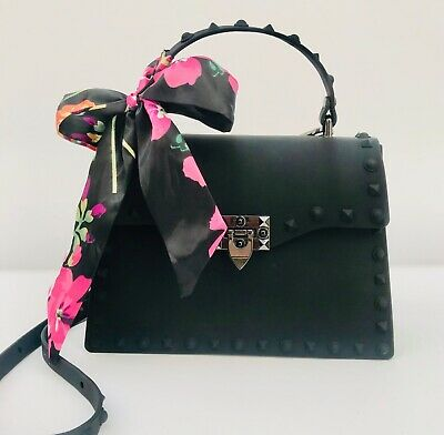 3ab863e35764ae Jelly Couture Rockstud Flap Handbag With Shoulder Strap - Black, 20 Cm,  Small