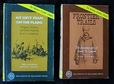 Western Frontier Library lot of 2 My Sixty Years on the Plains & Frontier Trails