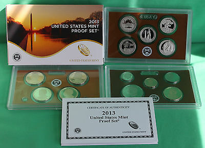 2013 United States Mint ANNUAL 14 Coin Proof Set Original Box and COA