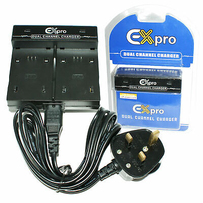 DUAL Battery Charger EN-EL14 ENEL14 MH-24 for Nikon P7100, P7700, D3200