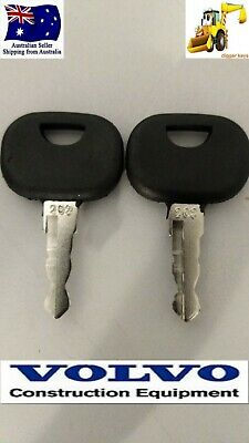2 x Volvo Heavy Equipment Wheel Loader John Deere Plant 202 Keys  FREE POSTAGE