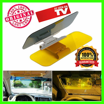 AS SEEN ON TV auto 2 in 1 HD Car Sun Visors Day Night Anti-dazzle Sunshade Mirro