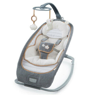 Ingenuity Boutique Bouncer/Rocking Seat Chair for Baby/Newborn Bella Teddy Grey