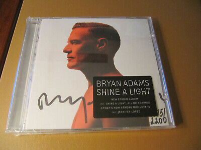 Autographed Bryan Adams Signed & Numbered CD Booklet + NEW CD Shine A Light