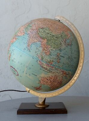 Replogle 12 inch diameter globe world premier series with light