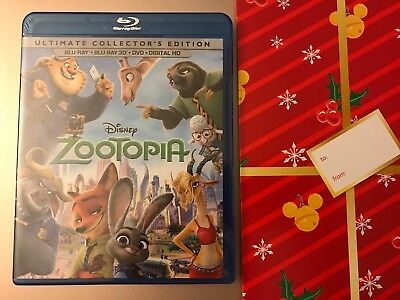 Zootopia Ultimate Collector's Edition Blu-Ray + 3D + DVD + DIGITAL HD + Gift Box