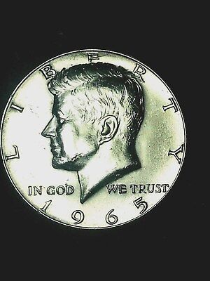 1965 Kennedy 40% Silver Half Dollar GEM BU Actual Coin in Picture Free S/H