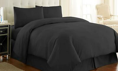 Southshore Fine Linens 2 Piece - Oversized Duvet Cover Set (Twin/Twin XL, Black)