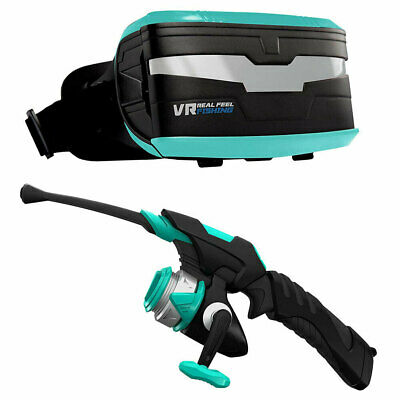 VR Virtual Glasses Real Feel Fishing 3D Reality Simulator w/ Bluetooth/Headset
