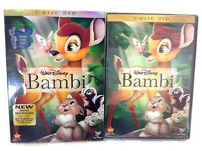 New*Bambi (DVD, 2011, 2-Disc Set) BRAND NEW Factory Sealed with Coverslip