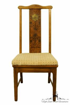 BERNHARDT FURNITURE Asian Chinoiserie Style Burled Wood Dining Side Chair 255...