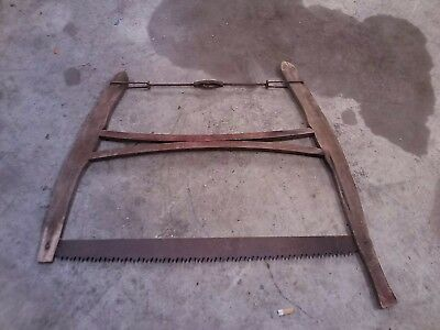 Vintage Buck Saw Antique Old Primitive Rustic Cabin Decor Farm Tool.
