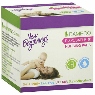 40pc New Beginnings Disposable Nursing Pads Ultra-Soft/Leak-Proof f/ Mothers