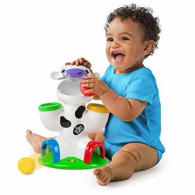 Bright Starts Drop & Giggle Cow Fun/Toy Toddler Animals Toys Baby/Infant w Music