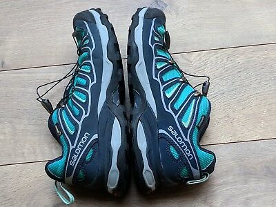 WOMENS SALOMON X ULTRA 2 Gore Tex XCR BlueGreen Hiking