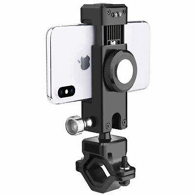 Bike Motorcycle MTB Handlebar Mount Cell Phone Holder GPS With LED Light Compass
