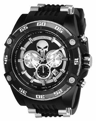 26859 Invicta Marvel Punisher Bolt Viper 52mm Chronograph Black Limited Ed Watch