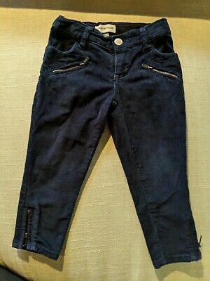 Country Road Girls Navy Cord Jeans With Ankle Zip Size 2