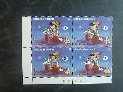 GRENADINES 1989 WORLD STAMP EXPO DISNEY CHARACTERS 5c RATE BLK 4 MINT STAMPS