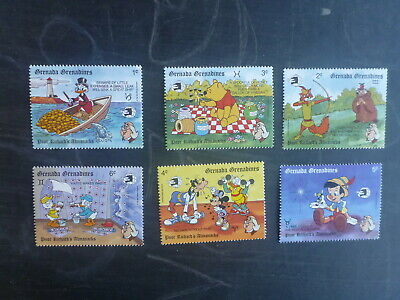 Grenadines 1989 World Stamp Expo Disney Characters Set 6 Mint Stmps Mnh